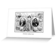 Presidents Washington and Lincoln Greeting Card