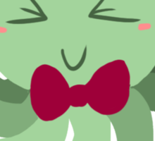 Bowtie Green Octopus Sticker
