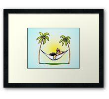 Yorkie Island Princess Framed Print