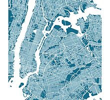 New York City Map by CartoCreative