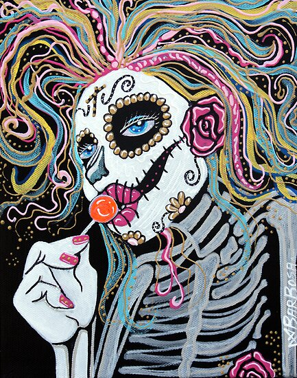 Sugar Skull Lollipop by Laura Barbosa