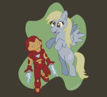 Iron Man and Derpy Hooves by beckadoodles