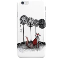 Never out fox the fox iPhone Case/Skin