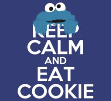 Keep Calm and Eat Cookie - White Text by Zahaidies
