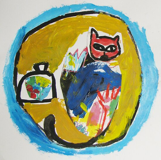 collage cat by Shylie Edwards