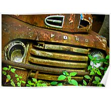 Old Forgotten Ford Truck Poster