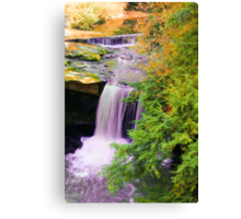 Painted Waterfall Canvas Print