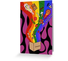 Internet Box Poster Greeting Card