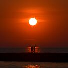 Loving Sunset by Debbie  Maglothin