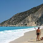 Summer at Myrtos beach by Maria1606