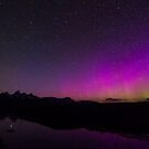Northern Lights Over Tetons and Water by cavaroc