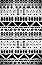Aztec Black & White Pattern by Paulo Capdeville
