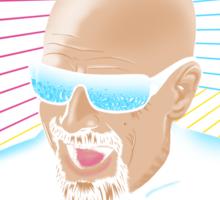 Heisenberg / Max Headroom Mashup Sticker