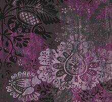 Damask Jewel IPAD Case in Magenta by Circe Lucas