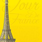 Tour De France Eiffel Tower by Andy Scullion
