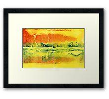 Sunset Heat Framed Print