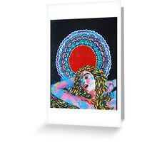 Original Acrylic Painting (A Dance For Sahasrara) Greeting Card