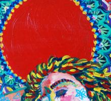 Original Acrylic Painting (A Dance For Sahasrara) Sticker