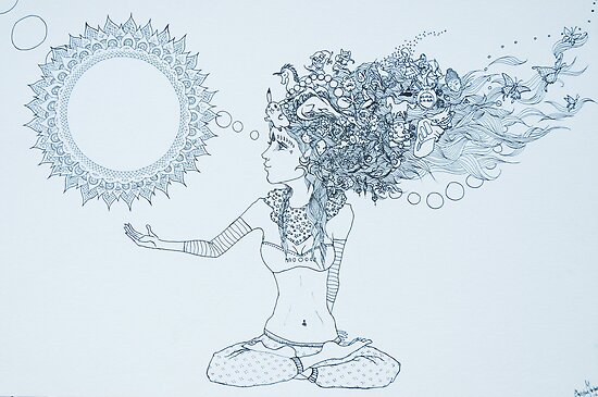 Original Ink Drawing (Balance) by Christina Martine