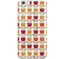 red tulips in rows iPhone Case/Skin