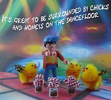 Chicks and honeys on the dancefloor by Caroline  Peacock