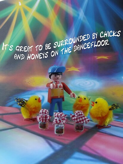Chicks and honeys on the dancefloor by Caroline  Peacock