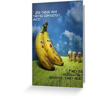 Nuts and bananas Greeting Card