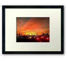Sunset Commute Framed Print