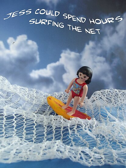Surfing the net by Caroline  Peacock