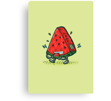 Watermelon Bot Canvas Print