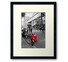 The Red Vespa Framed Print
