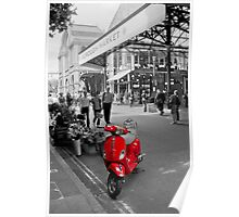 The Red Vespa Poster