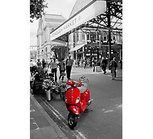 The Red Vespa Photographic Print
