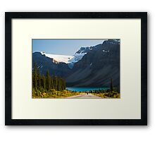 Riding the Icefields Parkway Framed Print