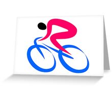 Cyclist Icon Greeting Card
