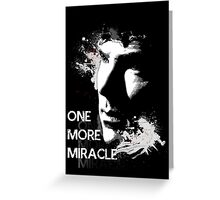 Sherlock - One More Miracle Greeting Card