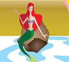 Origami - Mermaid by Paulway Chew