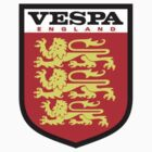 Vespa England Shield	 by Scooterist