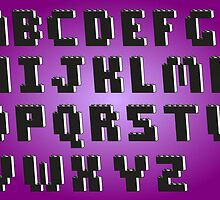 Brick Font Alphabet by Chillee Wilson from Customize My Minifig by ChilleeW
