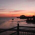 Sunrise at Gillingham Pier by John Stratford