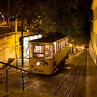 Lisbon Gloria Funicular Night Shot by kirilart
