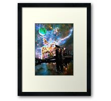 Calling The Night - Crow Art By Sharon Cummings Framed Print