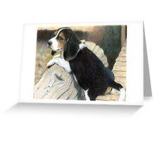 Beagle Dog Portrait Greeting Card
