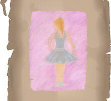 Ballerina in blue by vonnaart