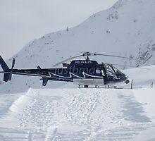 La Tzoumaz: Heli Alps Squirrel Helicopter by justbmac