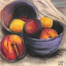 Stoned Fruit in Pastel by Amy-Elyse Neer