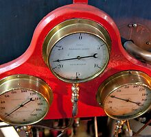 Gauges On Red by phil decocco