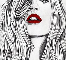 The Girl with the Red Lips by Paul  Nelson-Esch