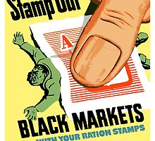Stamp Out Black Markets... With Your Ration Stamps by warishellstore
