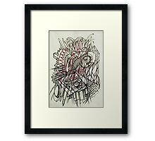 Spikey abstraction Framed Print